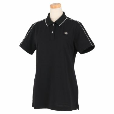 セントアンドリュース St ANDREWS レディース 鹿の子 ロゴ刺繍 半袖 ポロシャツ 043-1160352 2021年モデル ブラック(010)