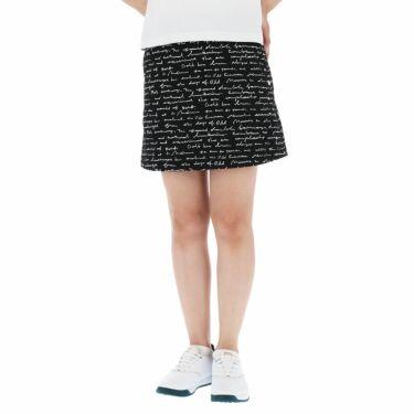 セントアンドリュース St ANDREWS レディース 総柄プリント ツイル ストレッチ スカート 043-1134354 2021年モデル ブラック(010)