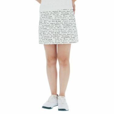 セントアンドリュース St ANDREWS レディース 総柄プリント ツイル ストレッチ スカート 043-1134354 2021年モデル ホワイト(030)