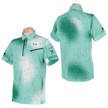 オークリー OAKLEY メンズ SKULL グラフィックプリント柄 半袖 ハーフジップ ボタンダウン ポロシャツ FOA402489 2021年モデル 詳細3