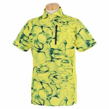 オークリー OAKLEY メンズ グラフィックプリント柄 メッシュ生地 半袖 ポロシャツ FOA402501 2021年モデル イエローダスト(580)