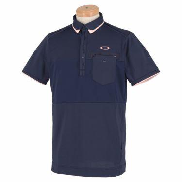 オークリー OAKLEY メンズ 生地切替 半袖 ポロシャツ FOA402502 2021年モデル ピーコート(67Z)