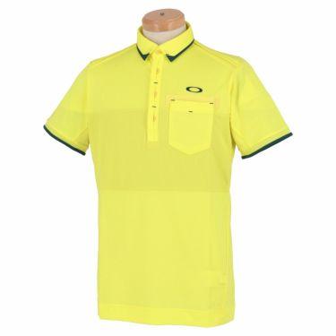 オークリー OAKLEY メンズ 生地切替 半袖 ポロシャツ FOA402502 2021年モデル ヴィンテージイエロー(595)