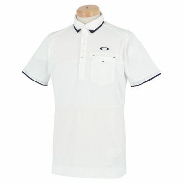 オークリー OAKLEY メンズ 生地切替 半袖 ポロシャツ FOA402502 2021年モデル ホワイト(100)