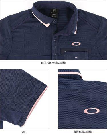 オークリー OAKLEY メンズ 生地切替 半袖 ポロシャツ FOA402502 2021年モデル 詳細4