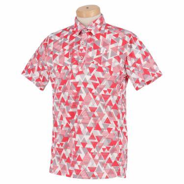 ブリヂストンゴルフ メンズ 幾何学柄 メッシュ生地 半袖 ポロシャツ 3GT05A 2021年モデル マゼンタ(MA)