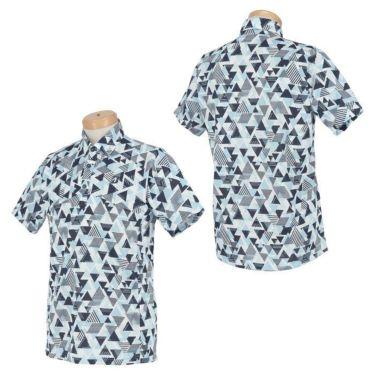 ブリヂストンゴルフ メンズ 幾何学柄 メッシュ生地 半袖 ポロシャツ 3GT05A 2021年モデル 詳細3