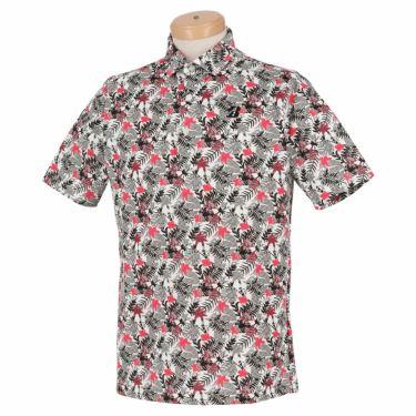 ブリヂストンゴルフ メンズ ボタニカル柄 メッシュ生地 半袖 ポロシャツ TGM05A 2021年モデル マゼンタ(MA)