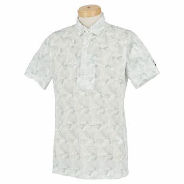 ブリヂストンゴルフ メンズ 幾何学柄 メッシュ生地 半袖 ポロシャツ TGM06A 2021年モデル ホワイト(WH)