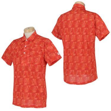 ブリヂストンゴルフ メンズ 幾何学柄 メッシュ生地 半袖 ポロシャツ TGM06A 2021年モデル 詳細3