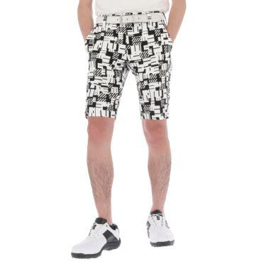 マンシングウェア Munsingwear メンズ 総柄プリント 高通気 ショートパンツ MEMRJD52 2021年モデル ブラック(BK00)
