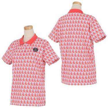 アンパスィ and per se レディース ロゴワッペン 総柄プリント 半袖 ポロシャツ AFS9711P2 2021年モデル 詳細3