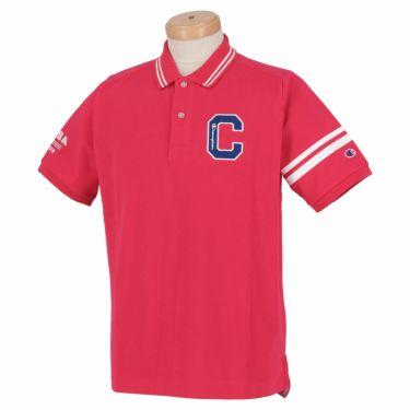 チャンピオンゴルフ ChampionGOLF メンズ ロゴ刺繍 袖ライン 鹿の子 半袖 ポロシャツ C3-TG312 ゴルフウェア 2021年モデル ピンク(920)