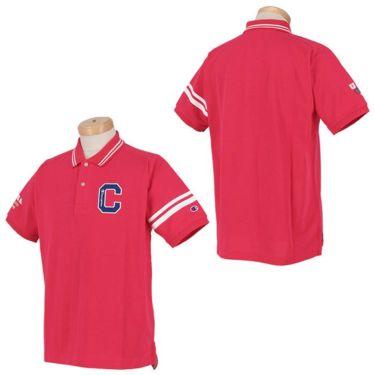 チャンピオンゴルフ ChampionGOLF メンズ ロゴ刺繍 袖ライン 鹿の子 半袖 ポロシャツ C3-TG312 ゴルフウェア 2021年モデル 詳細3