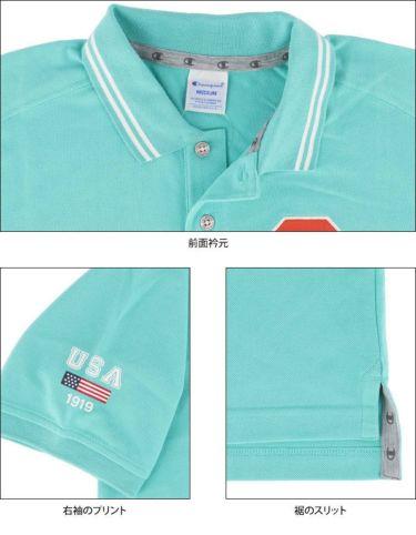 チャンピオンゴルフ ChampionGOLF メンズ ロゴ刺繍 袖ライン 鹿の子 半袖 ポロシャツ C3-TG312 ゴルフウェア 2021年モデル 詳細4