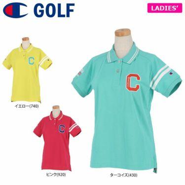 チャンピオンゴルフ ChampionGOLF レディース ロゴ刺繍 袖ライン 鹿の子 半袖 ポロシャツ CW-TG312 ゴルフウェア 2021年モデル 詳細1