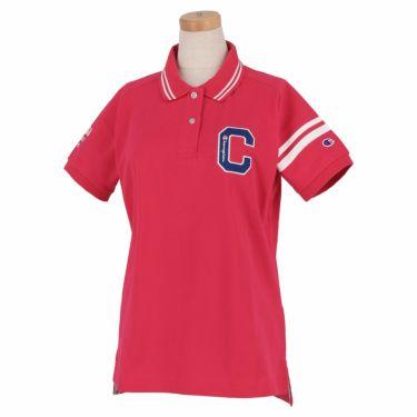 チャンピオンゴルフ ChampionGOLF レディース ロゴ刺繍 袖ライン 鹿の子 半袖 ポロシャツ CW-TG312 ゴルフウェア 2021年モデル ピンク(920)