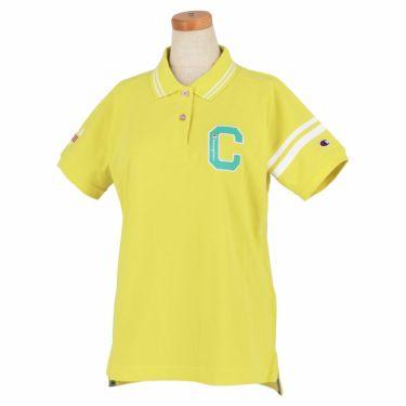 チャンピオンゴルフ ChampionGOLF レディース ロゴ刺繍 袖ライン 鹿の子 半袖 ポロシャツ CW-TG312 ゴルフウェア 2021年モデル イエロー(740)