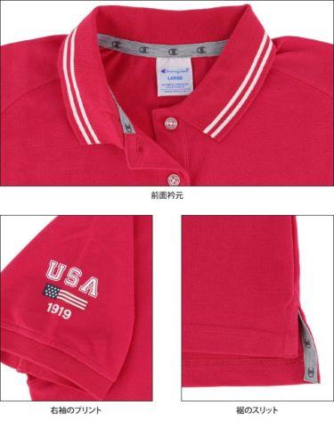 チャンピオンゴルフ ChampionGOLF レディース ロゴ刺繍 袖ライン 鹿の子 半袖 ポロシャツ CW-TG312 ゴルフウェア 2021年モデル 詳細4