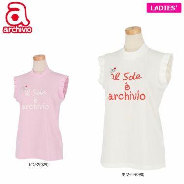 アルチビオ archivio レディース ロゴデザイン ノースリーブ モックネックシャツ A059411 2021年モデル 詳細1