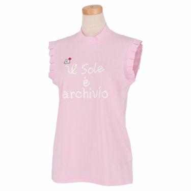 アルチビオ archivio レディース ロゴデザイン ノースリーブ モックネックシャツ A059411 2021年モデル ピンク(029)