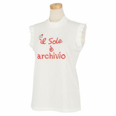 アルチビオ archivio レディース ロゴデザイン ノースリーブ モックネックシャツ A059411 2021年モデル ホワイト(090)