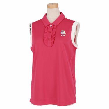 アルチビオ archivio レディース ロゴプリント メッシュ生地 ノースリーブ ポロシャツ A059502 2021年モデル ピンク(025)