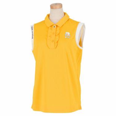 アルチビオ archivio レディース ロゴプリント メッシュ生地 ノースリーブ ポロシャツ A059502 2021年モデル イエロー(040)