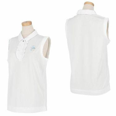 アルチビオ archivio レディース ロゴプリント メッシュ生地 ノースリーブ ポロシャツ A059502 2021年モデル 詳細3
