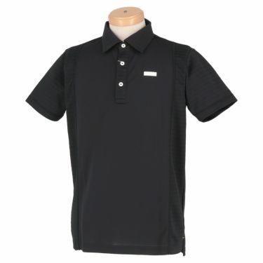 ブラック&ホワイト Black&White ホワイトライン メンズ ロゴプリント 配色切替 半袖 ポロシャツ BGS9601XS 2021年モデル ブラック(20)