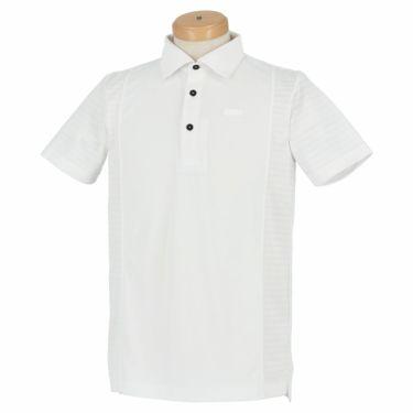 ブラック&ホワイト Black&White ホワイトライン メンズ ロゴプリント 配色切替 半袖 ポロシャツ BGS9601XS 2021年モデル ホワイト(10)