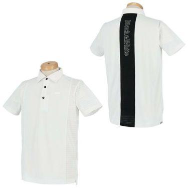 ブラック&ホワイト Black&White ホワイトライン メンズ ロゴプリント 配色切替 半袖 ポロシャツ BGS9601XS 2021年モデル 詳細3
