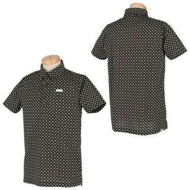 ブラック&ホワイト Black&White ホワイトライン メンズ 総柄 ジオメトリックプリント 半袖 ボタンダウン ポロシャツ BGS9611XX 2021年モデル 詳細3