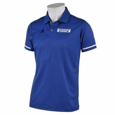 ルコック Le coq sportif メンズ ロゴプリント ワッフルメッシュ 半袖 ポロシャツ QGMRJA35 2021年モデル ブルー(BL00)