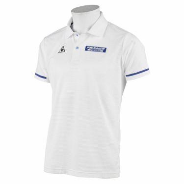 ルコック Le coq sportif メンズ ロゴプリント ワッフルメッシュ 半袖 ポロシャツ QGMRJA35 2021年モデル ホワイト(WH00)