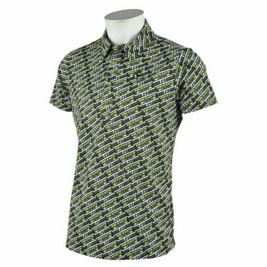 ルコック Le coq sportif メンズ ボックスロゴ 総柄プリント 半袖 ポロシャツ QGMRJA38 2021年モデル ブラック(BK00)
