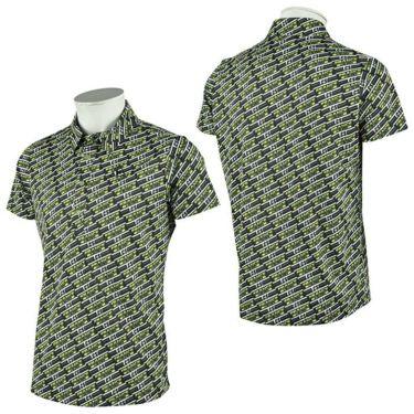 ルコック Le coq sportif メンズ ボックスロゴ 総柄プリント 半袖 ポロシャツ QGMRJA38 2021年モデル 詳細3