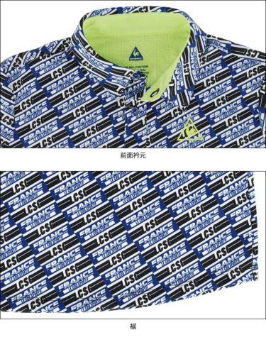 ルコック Le coq sportif メンズ ボックスロゴ 総柄プリント 半袖 ポロシャツ QGMRJA38 2021年モデル 詳細4