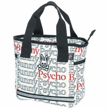 サイコバニー PsychoBunny POLYPONIC タイポグラフィ柄 ラウンドトートバッグ PBMG1SB8 00 ホワイト 2021年モデル ホワイト(00)