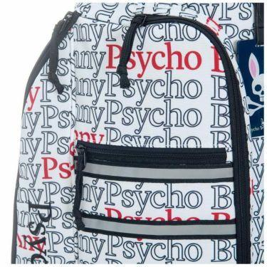 サイコバニー PsychoBunny POLYPONIC タイポグラフィ柄 キャディバッグ PBMG1SC5 00 ホワイト 2021年モデル 詳細3