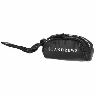 セントアンドリュース St ANDREWS ユニセックス ロゴプリント ボールケース 042-1984353 010 ブラック 2021年モデル ブラック(010)