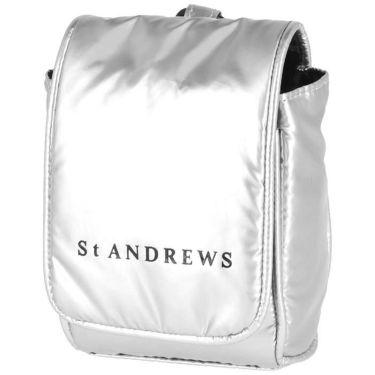 セントアンドリュース St ANDREWS ユニセックス ロゴプリント ポーチ 042-1984354 160 シルバー 2021年モデル シルバー(160)