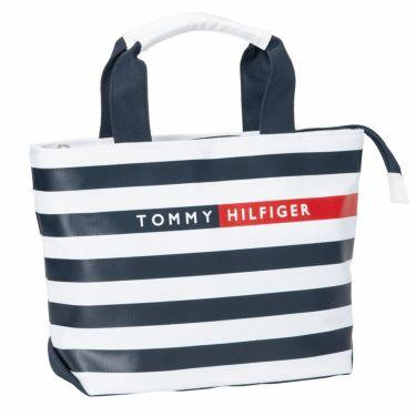 トミー ヒルフィガー ゴルフ ボーダー柄 キャンバス地 ラウンドバッグ THMG1SBA 30 ネイビー 2021年モデル ネイビー(30)