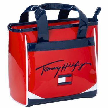 トミー ヒルフィガー ゴルフ ロゴ刺繍 オールエナメル ラウンドバッグ THMG1SBC 40 レッド 2021年モデル レッド(40)