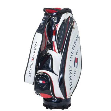 トミー ヒルフィガー ゴルフ ラウンドロゴ キャディバッグ THMG1SC3 00 ホワイト 2021年モデル ホワイト(00)