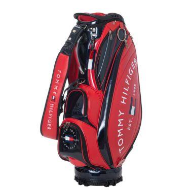トミー ヒルフィガー ゴルフ ラウンドロゴ キャディバッグ THMG1SC3 40 レッド 2021年モデル レッド(40)