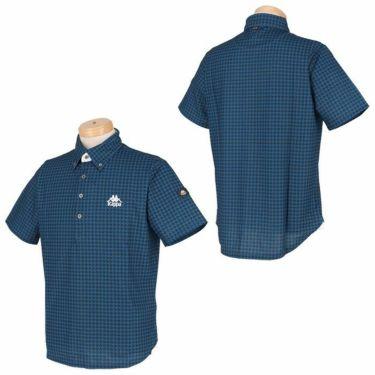 カッパ Kappa メンズ ロゴ刺繍 総柄プリント 半袖 ボタンダウン ポロシャツ KGA52SS01 2020年モデル 詳細3