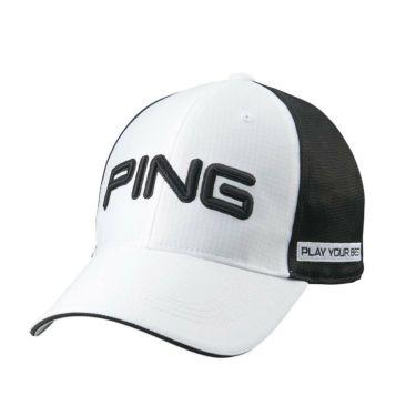 ピン PING 撥水 メンズ メッシュキャップ HW-P213 35514-01 White/Black 2021年モデル White/Black