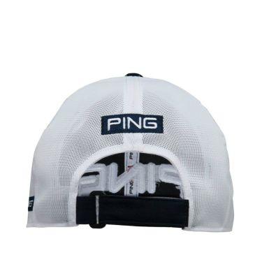 ピン PING 撥水 メンズ メッシュキャップ HW-P213 35514-04 Navy/White 2021年モデル 詳細1