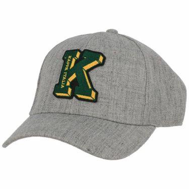 カッパ Kappa メンズ ロゴワッペン キャップ KG958HW44 HEGR ヘザーグレー ヘザーグレー(HEGR)